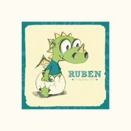 Geboortekaartje: Ruben