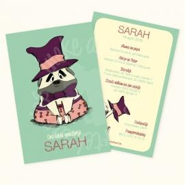 Geboortekaartje: Sarah
