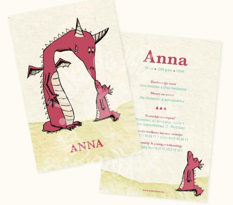 Geboortekaartje: Anna