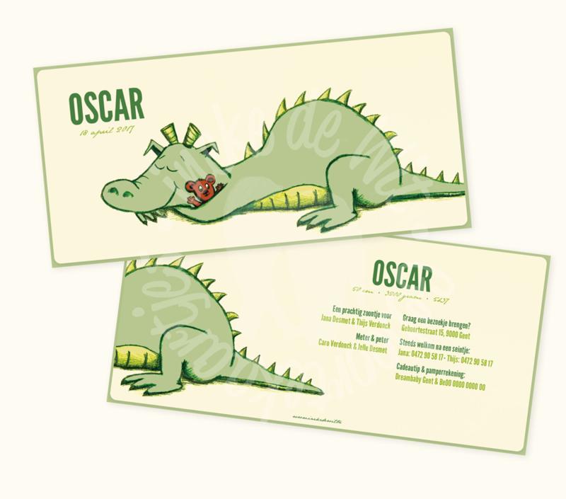 Geboortekaartje: Oscar