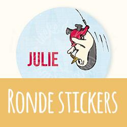 Doopsuiker: ronde stickers I Ineke de Wit