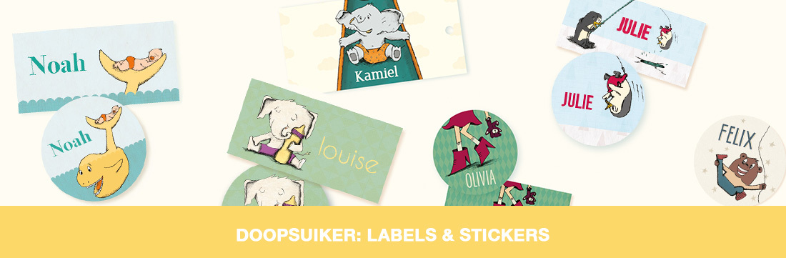 Doopsuikers: labels & stickers