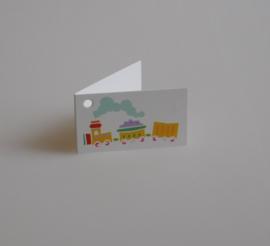 Bedankkaartjes: 25 stuks Kaartjes speelgoedtrein