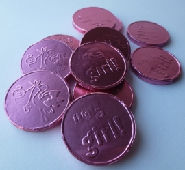 10 Stuks Chocolade Babymunten Roze