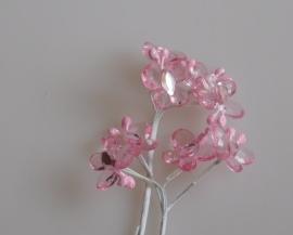 DIY - 12 Stuks Kristalvlinder klein Rose