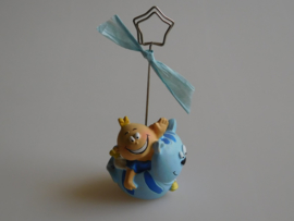 Geboortebedankje Fotoclip Baby&Poes Blauw