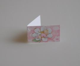 Bedankkaartjes: 25 stuks Kaartjes baby op bloem Roze en Blauw