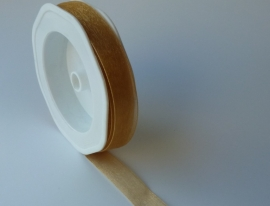DIY - Organza lint Donkergoud 15mm.