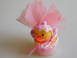 Geboortebedankje Badeendje Rose