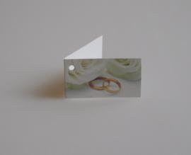 Bedankkaartjes: 25 stuks Kaartjes rozen en ringen