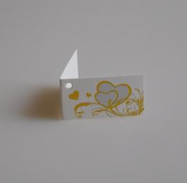 Bedankkaartjes: 25 stuks Kaartjes gouden harten