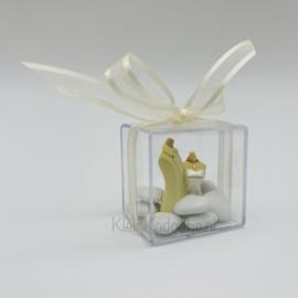 Huwelijksbedankje -Plexi doosje met bruidspaar