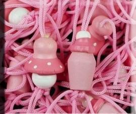 DIY - GeluksBabyfles en Speen Roze