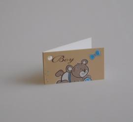 Bedankkaartjes: 25 stuks Kaartjes beer BOY