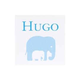 Bedankkaartje: 20 stuks Kaartjes Blauw Hugo