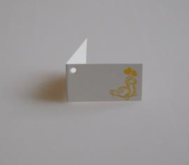 Bedankkaartjes: 25 stuks Kaartjes gouden krul