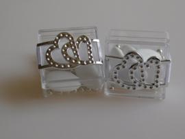 Huwelijksbedankje Transparant doosje met gesp