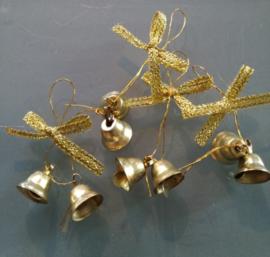 Gouden belletjes - 5 stuks