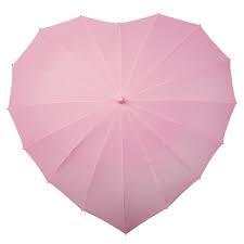 Bruidsparaplu Hartvormig Roze