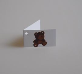 Bedankkaartjes: 25 stuks Kaartjes beer bruin