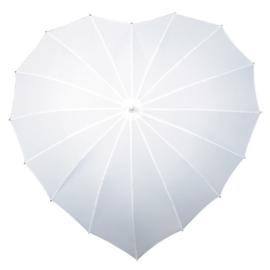 Bruidsparaplu Hartvormig Wit