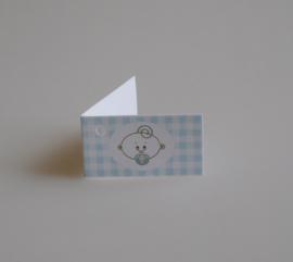 Bedankkaartjes: 25 stuks Kaartjes Tita baby Roze en Blauw