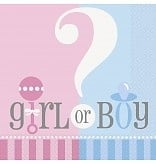 Babyshower Servetten BOY or GIRL??