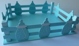 Presentatieschaal Zuigfles Blauw