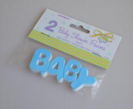 Babyshower 2 Caketoppers BABY Blauw