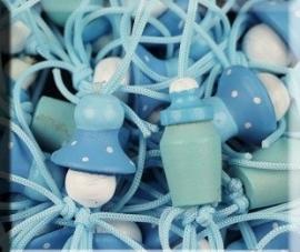 DIY - GeluksBabyfles en Speen Blauw