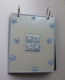 Babyfotoalbum Crystal Blauw