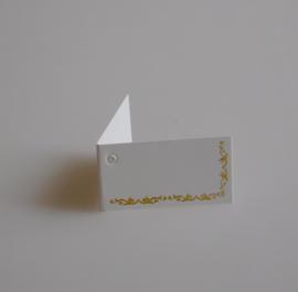 Bedankkaartjes: 25 stuks Kaartjes gouden rand