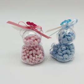 Geboortebedankje - Teddybeertje transparant