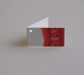 Bedankkaartjes: 25 stuks Kaartjes rode harten