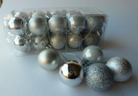 20 Stuks Kerstballen Zilver