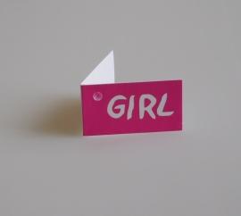 Bedankkaartjes: 25 stuks Kaartjes GIRL
