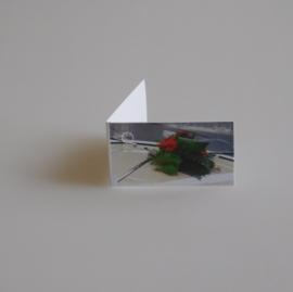 Bedankkaartjes: 25 stuks Kaartjes Rozen boeket