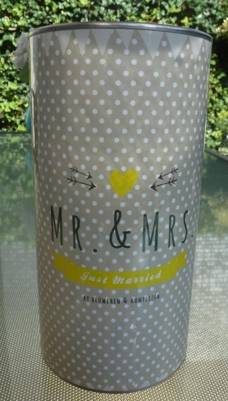 Geschenkblik Mr.&Mrs.