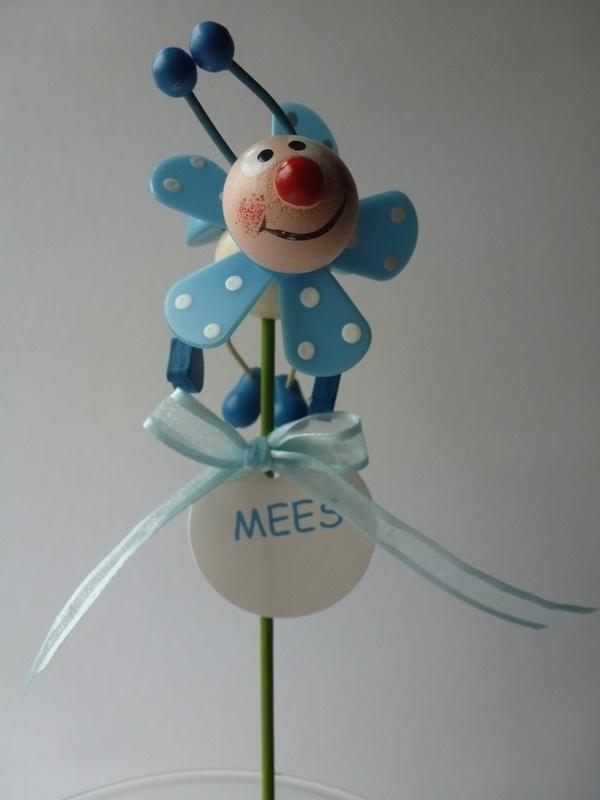 Geboortebedankje Windmolen Lieveheersbeestje Blauw