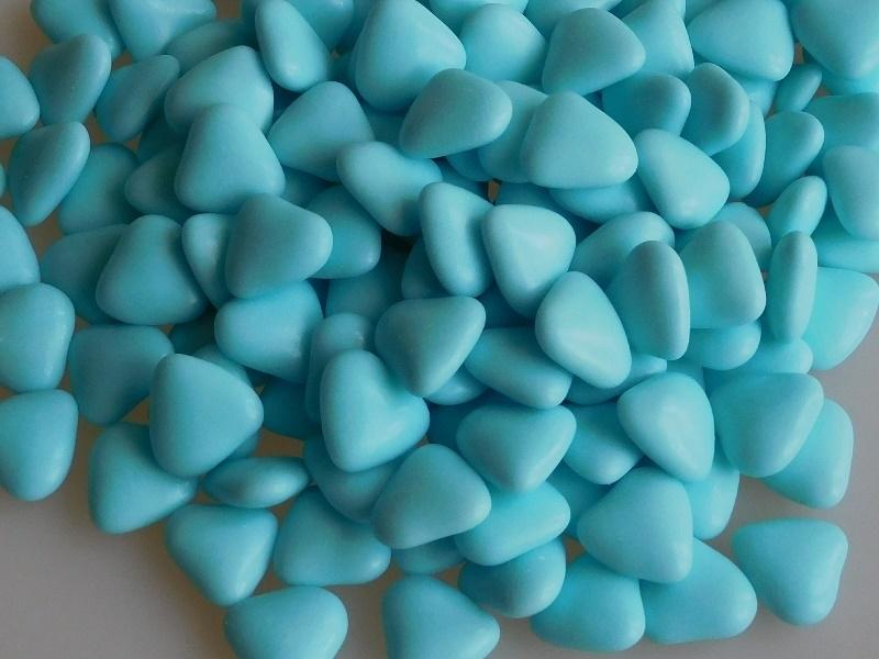 Chocolade Hartjes Lichtblauw