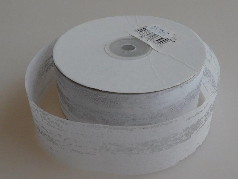 5 Meter Wit Papierlint Zilver