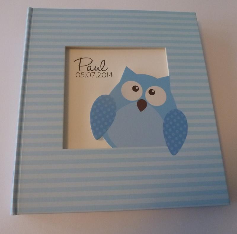 Babyfotoalbum Owlet Boy -- EXTRA KORTING!!