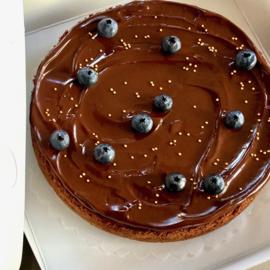 CHOCOLADEtaartje met blauwe bessen