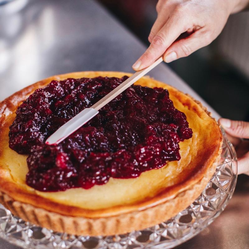 DIY bakpakket voor Cheesecake met cranberry's