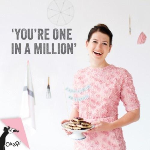 Wenskaart voor Luxe Millionaire's shortbread