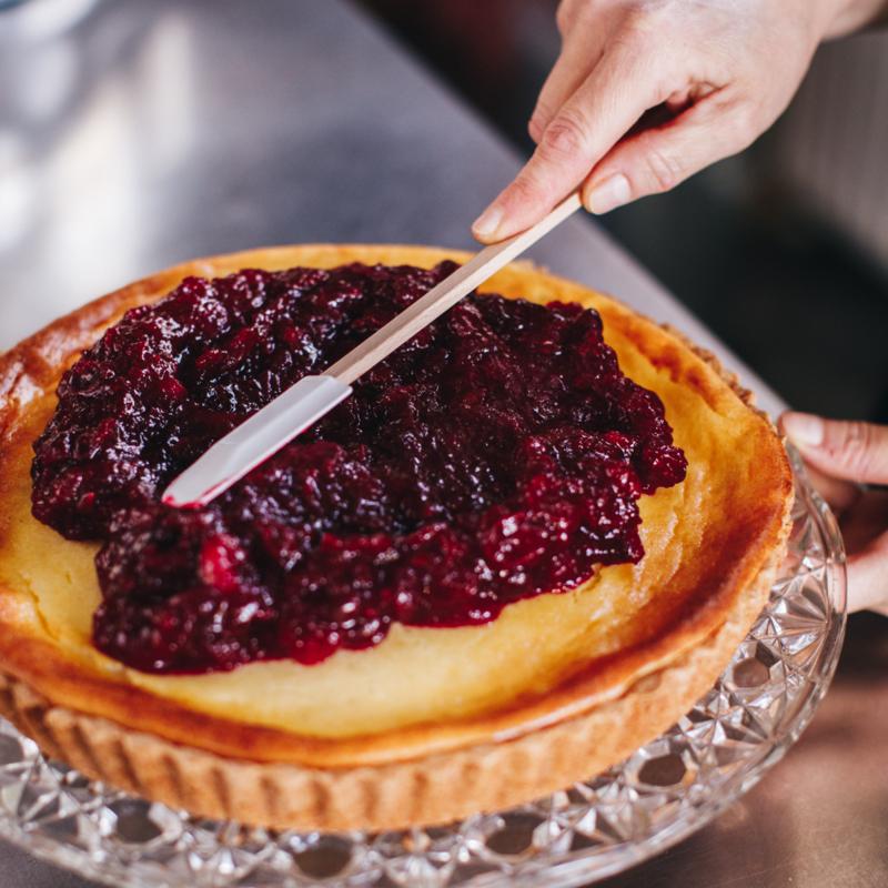 Receptkaart voor Cheesecake met cranberry's