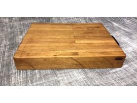 Snijplank, massief eiken (43 x 33 x 7 cm)