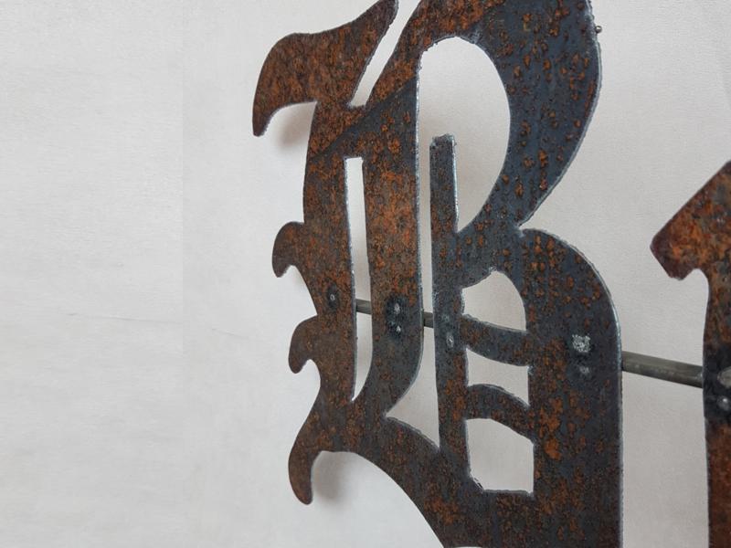 Metalen wandbord BROCANTE (106X27cm)