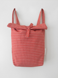 ORANGE STRIPE- FOLDER BAG