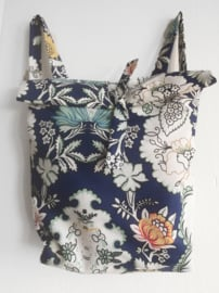 FLOWER BLAUW RUGTAS- FOLDER BAG